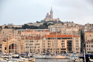 Notre Dame de la Garde from the harbor