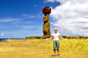 I can't believe I'm on Easter Island!