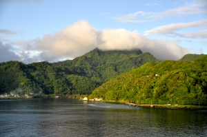 Sailing into Pago Pago