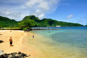 Pago Pago Beach at hotel